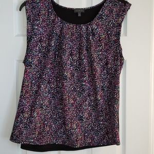 The Limited sleeveless multicolored shell sz xl